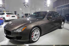 Brown maserati car Royalty Free Stock Images