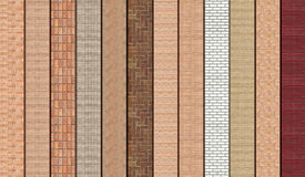 Brown Masonry samples Stock Image