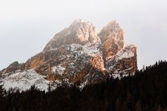 Brown Massive Snow Coated Mountain in Landscape Photography Royalty Free Stock Image