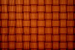 Brown Mat. Texture with large perpendicular knitted stripes Royalty Free Stock Images