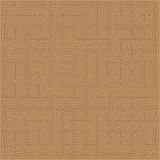 Brown Maze Seamless Pattern Stock Photos