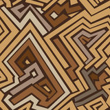 Brown maze seamless pattern Royalty Free Stock Images