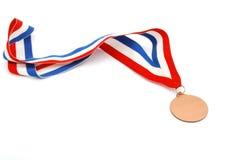 Brown medal stock image