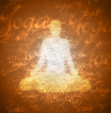 Brown Meditation Yoga Background. Illustration Royalty Free Stock Images
