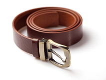 Brown men's belt 2 Royalty Free Stock Photos