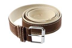 Brown men's belt Stock Photo
