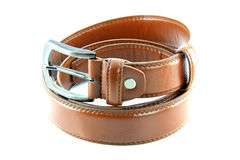 Brown men's fashion belt Royalty Free Stock Photo