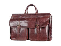 Brown men's hand bag Royalty Free Stock Images