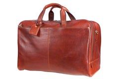 Brown men's hand bag Royalty Free Stock Photos