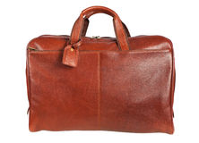 Brown men's hand bag Stock Photography