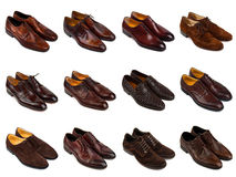 Brown men's shoes-1 Royalty Free Stock Photography