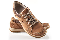 Brown men`s shoes Royalty Free Stock Images