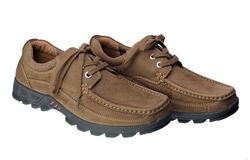 Brown men shoes Stock Photo