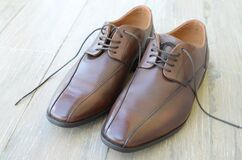 Brown mens shoes Royalty Free Stock Photography