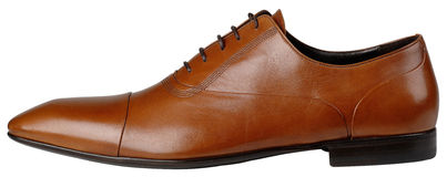 Brown Mens Shoes with shoelace Royalty Free Stock Photo