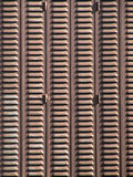 Brown metal blinds Royalty Free Stock Photos