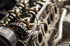 Brown Metal Engine Royalty Free Stock Photography