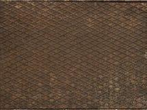 Brown metal floor texture. Close up of brown metal floor texture Stock Images