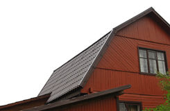 Brown metal roof Stock Image