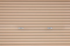 Brown metal shutter door background Royalty Free Stock Image