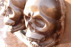 Brown metal skull sculpture Royalty Free Stock Photography