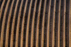 Brown metal texture. Red metal texture with stripes Royalty Free Stock Images