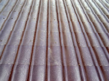 Brown metal texture. On a sunny bright day Stock Photo
