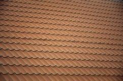 Brown-Metalldachplatten Metalldach-Schindeln - Überdachung von Constructi Stockbild