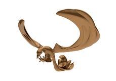 Brown metallic phoenix Royalty Free Stock Photo