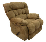 Brown Micro Fiber  Rocker Recliner Stock Photos