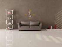Brown minimal lounge Stock Photo