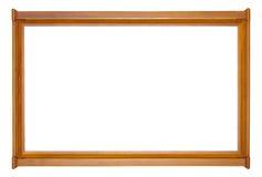 Brown mit modernem Rahmen des Goldhölzernen Bildes Stockfotos