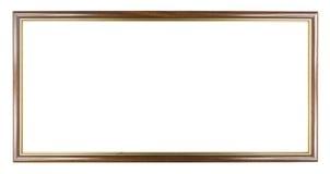 Brown mit modernem Rahmen des Goldhölzernen Bildes, enthaltenes Abschneidenp Lizenzfreie Stockfotos
