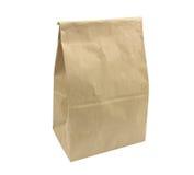 Brown-Mittagessentaschenpapier Lizenzfreie Stockfotografie