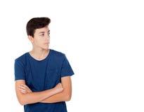 Brown młoda caucasian chłopiec Zdjęcie Stock