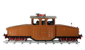 Brown model railway Royalty Free Stock Images