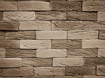 Brown modern brick wall textured background. For luxury interior building Stock Image