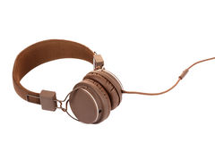 Brown modern headphone Royalty Free Stock Photography