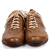 Brown modern leather shoe Stock Image