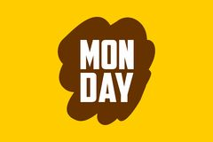 Brown Monday Royalty Free Stock Image