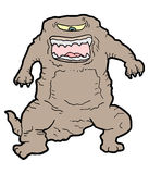 Brown monster Royalty Free Stock Photo