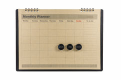 Brown Monthly planner isolated stock photo
