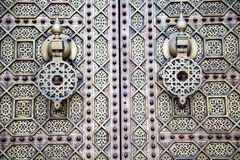 Brown  morocco in africa  facade home and rusty safe padlock Stock Image
