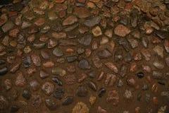 Brown morza kamienie dla tekstury, tło Obrazy Stock