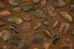 Brown morza kamienie dla tekstury, tło Obrazy Royalty Free