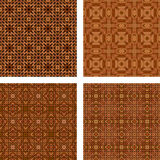 Brown mosaic background set. Brown seamless mosaic background set Royalty Free Stock Photography