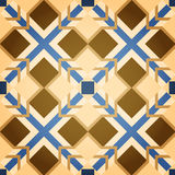 Brown Mosaic Square Seamless Pattern Royalty Free Stock Images