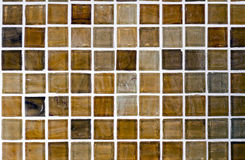 Brown mosaic tile Royalty Free Stock Photo