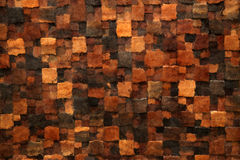 Brown mosaic tile background Stock Photography