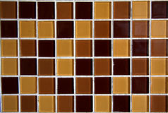 Brown mosaic tiles Royalty Free Stock Photography